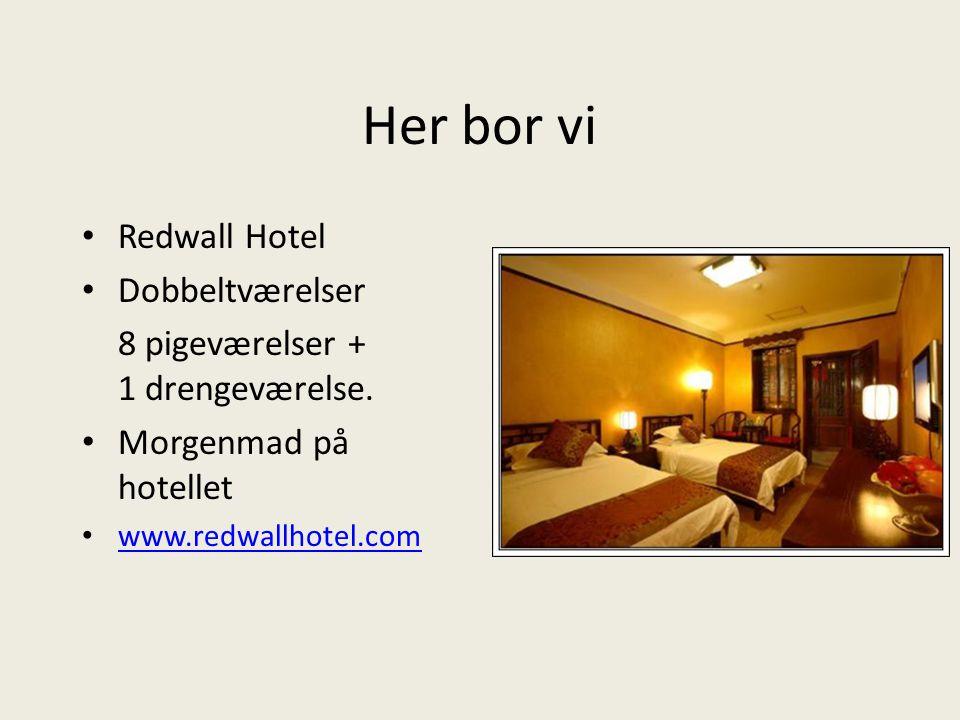 Her bor vi Redwall Hotel Dobbeltværelser