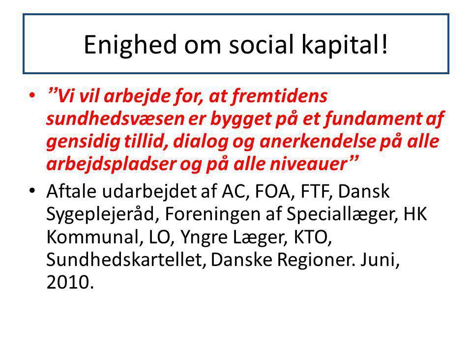 Enighed om social kapital!