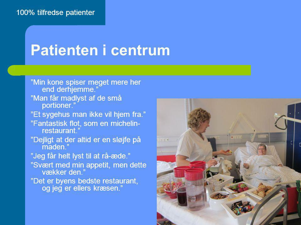 Patienten i centrum 100% tilfredse patienter