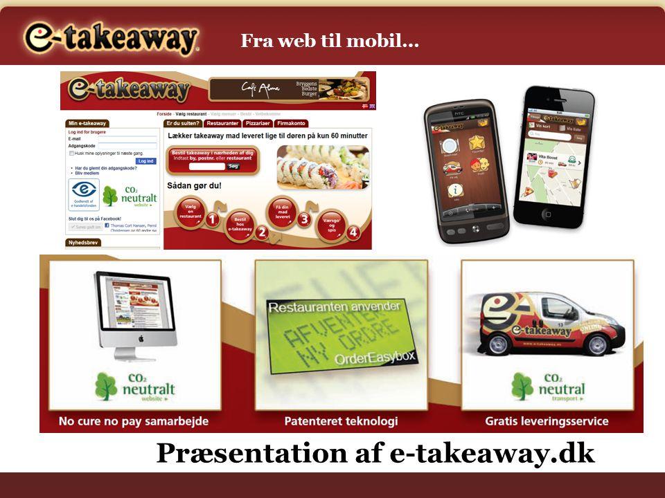 Præsentation af e-takeaway.dk