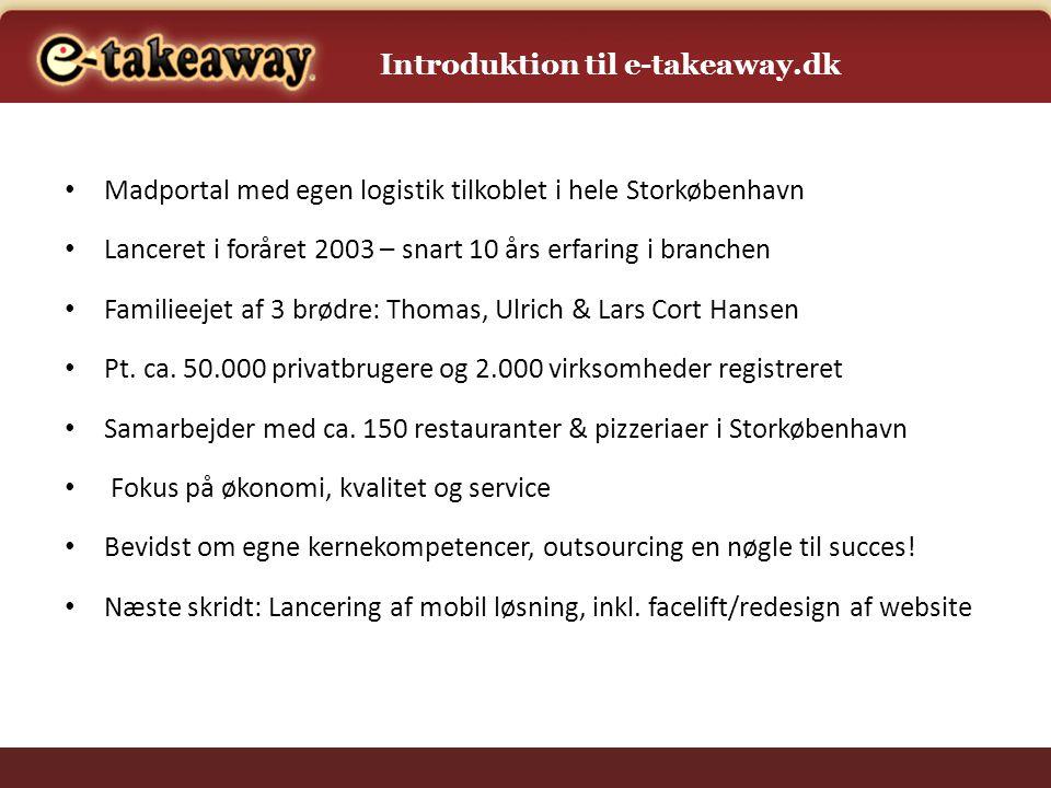 Introduktion til e-takeaway.dk
