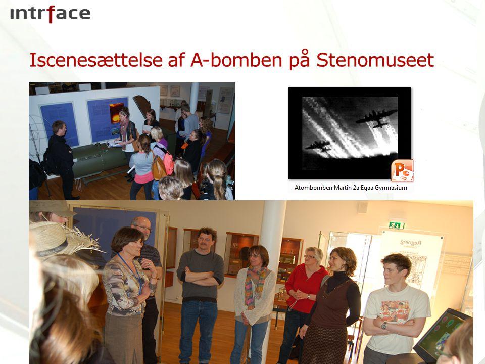 Iscenesættelse af A-bomben på Stenomuseet