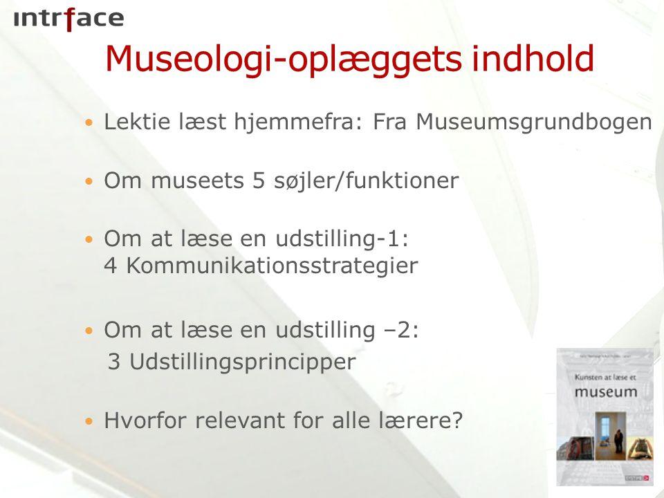 Museologi-oplæggets indhold