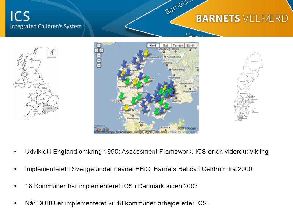 Udviklet i England omkring 1990: Assessment Framework