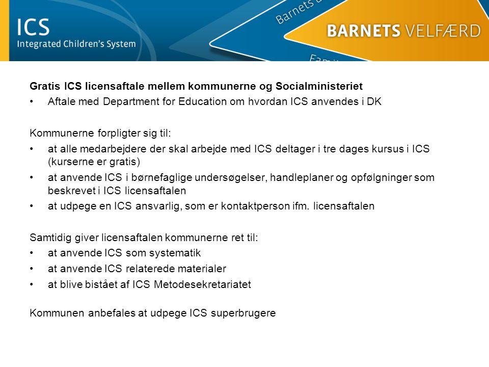 Gratis ICS licensaftale mellem kommunerne og Socialministeriet