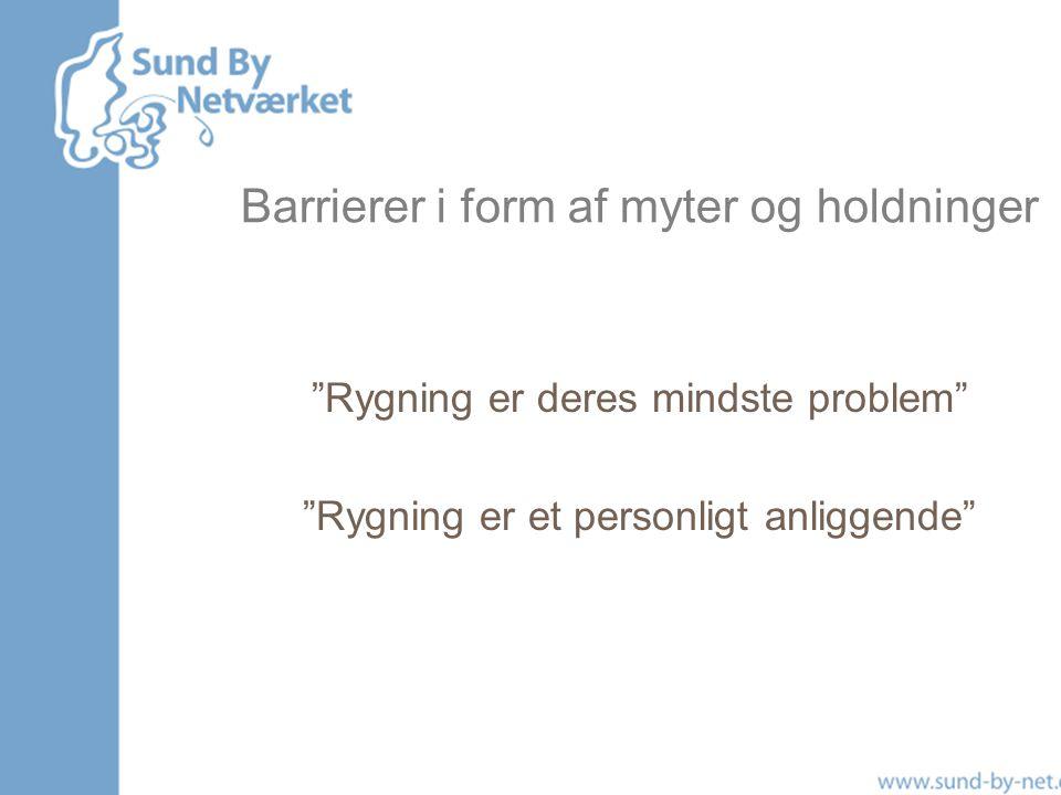 Barrierer i form af myter og holdninger