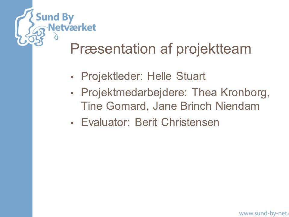 Præsentation af projektteam