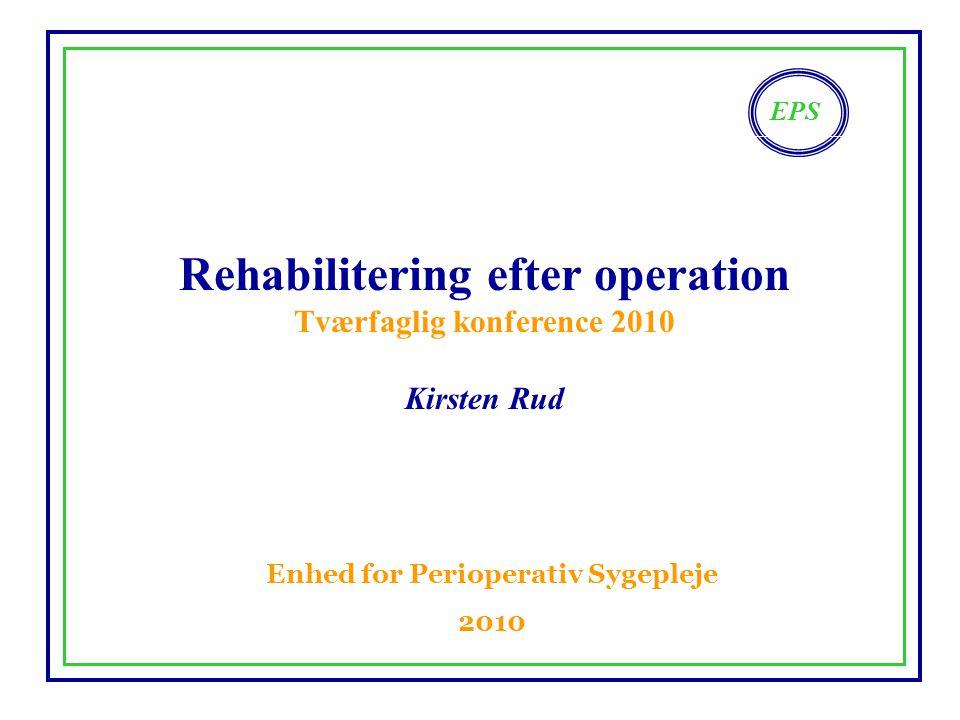 Rehabilitering efter operation