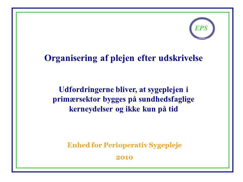 Organisering af plejen efter udskrivelse