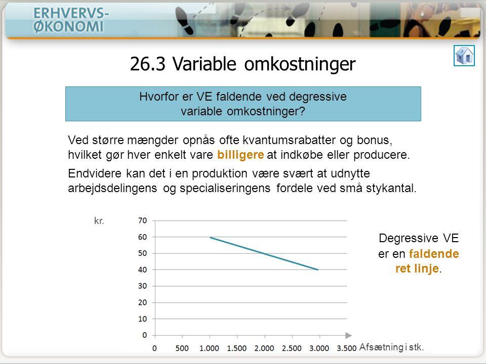 26.3 Variable omkostninger