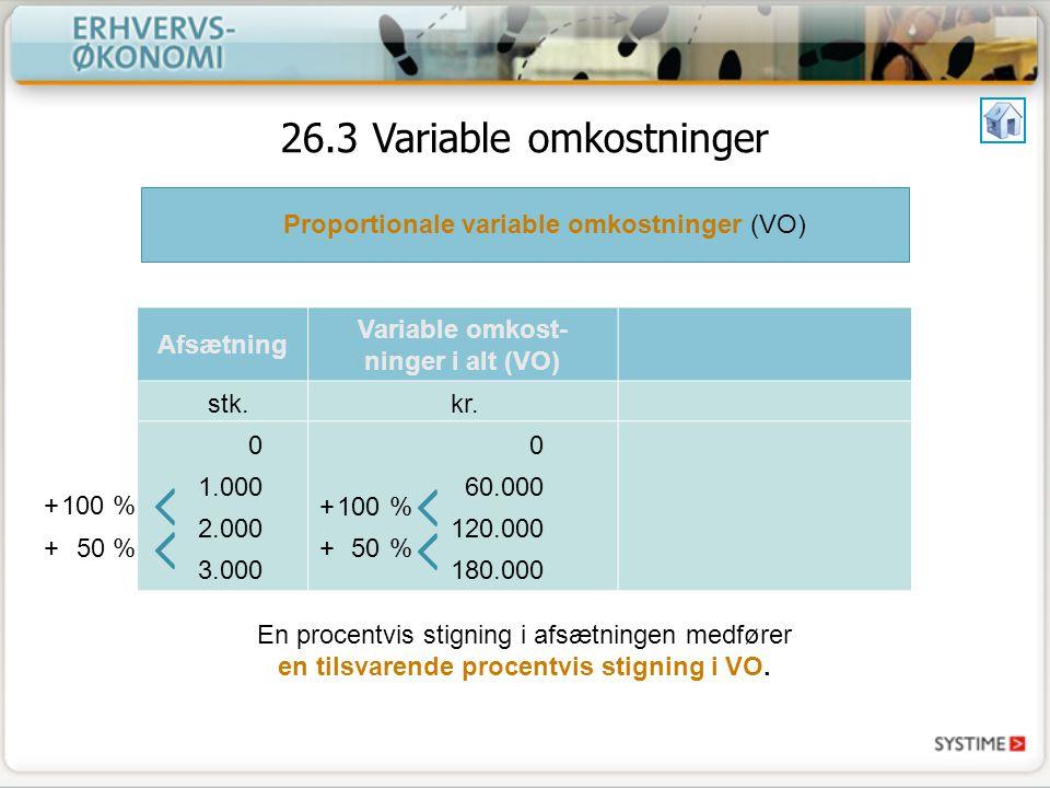 Variable omkost-ninger i alt (VO)