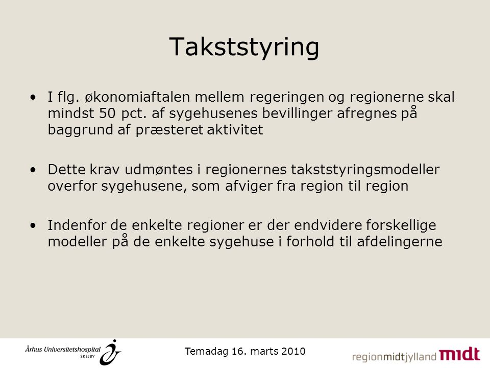 Takststyring