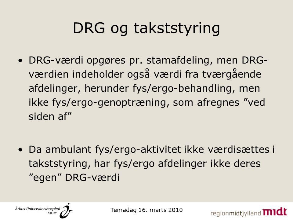 DRG og takststyring