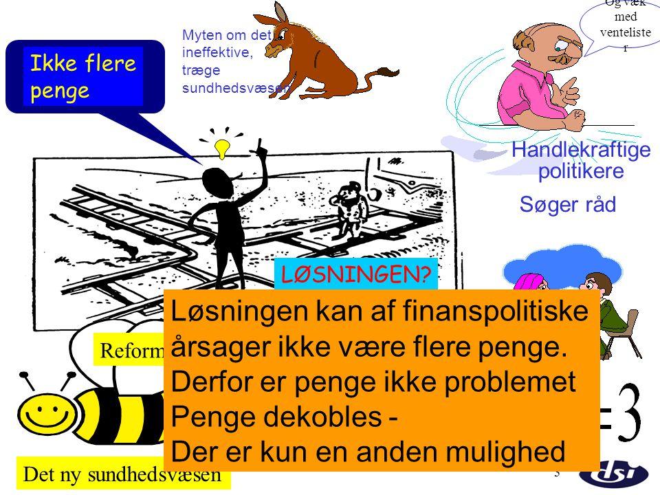 Løsningen kan af finanspolitiske årsager ikke være flere penge.