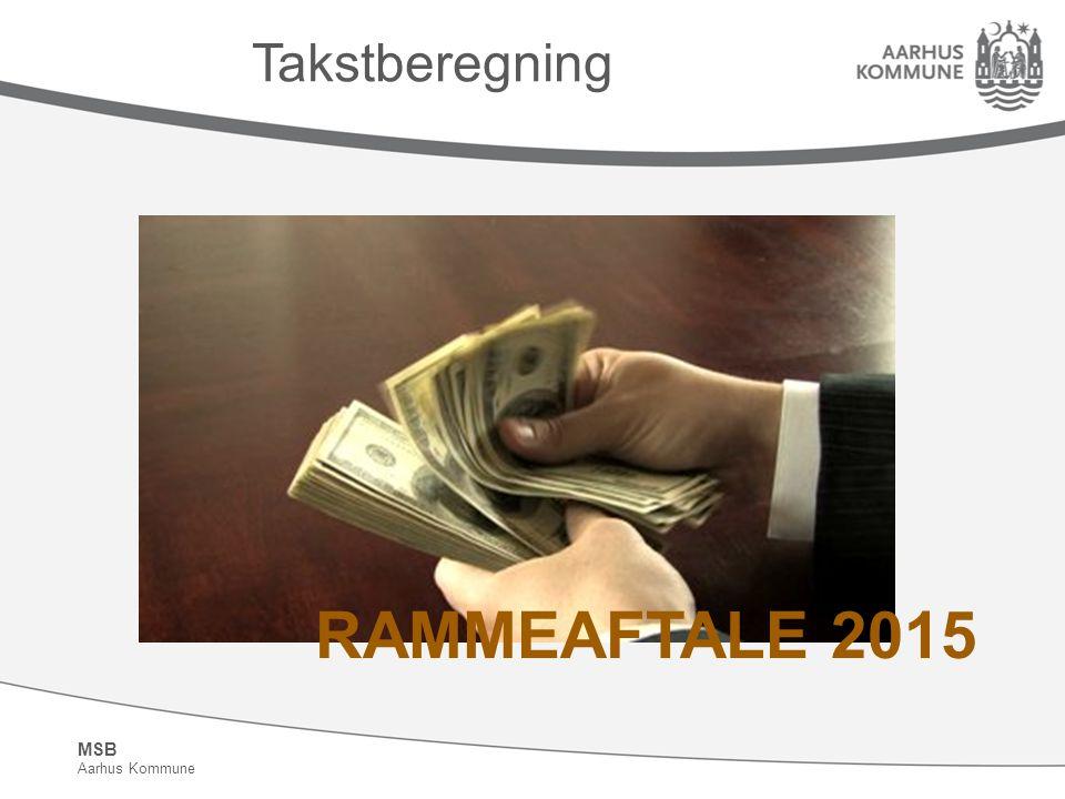 Takstberegning RAMMEAFTALE 2015