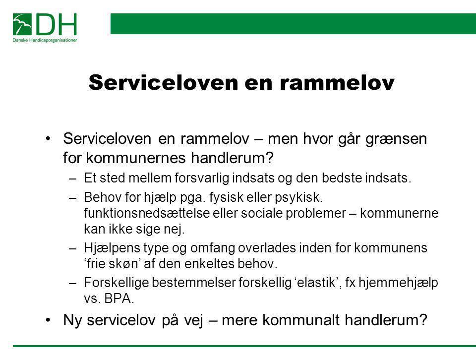 Serviceloven en rammelov