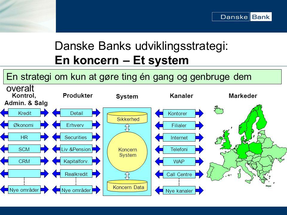 Danske Banks udviklingsstrategi: En koncern – Et system
