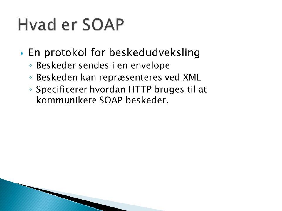 Hvad er SOAP En protokol for beskedudveksling