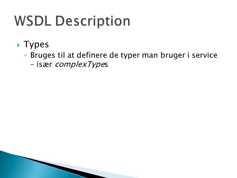 WSDL Description Types