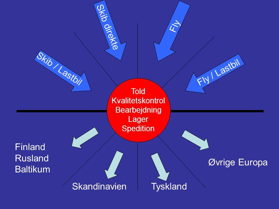 Fly Skib direkte Skib / Lastbil Fly / Lastbil Finland Rusland Baltikum