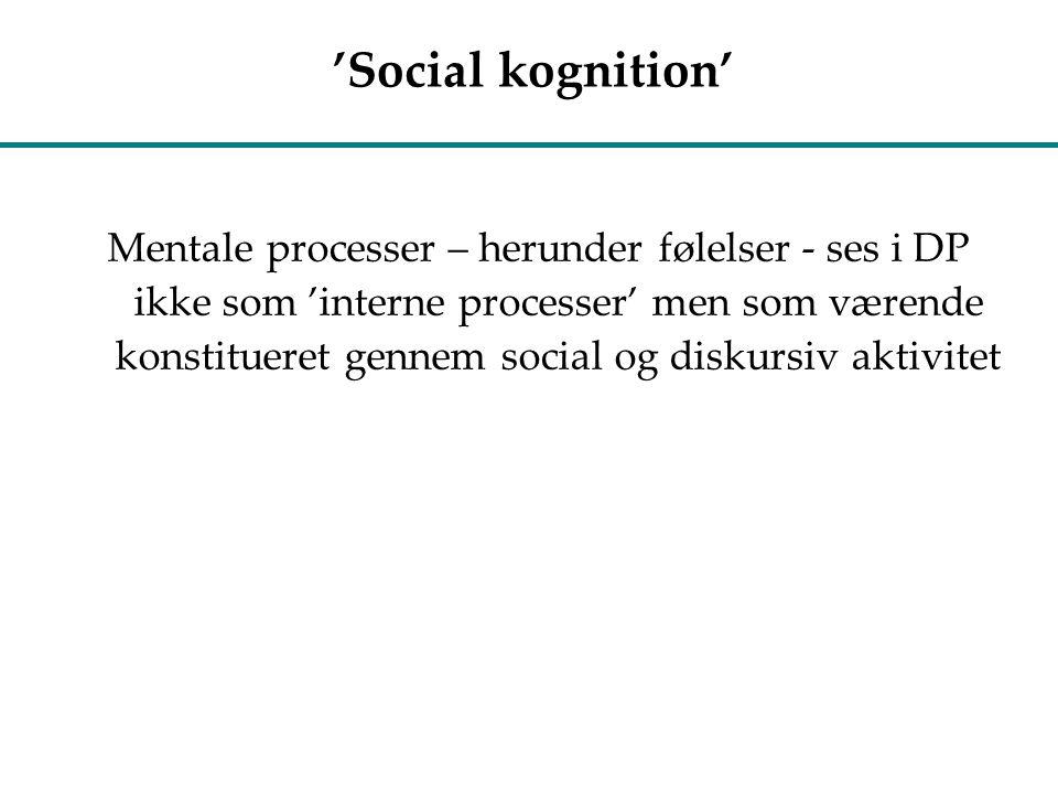 'Social kognition'