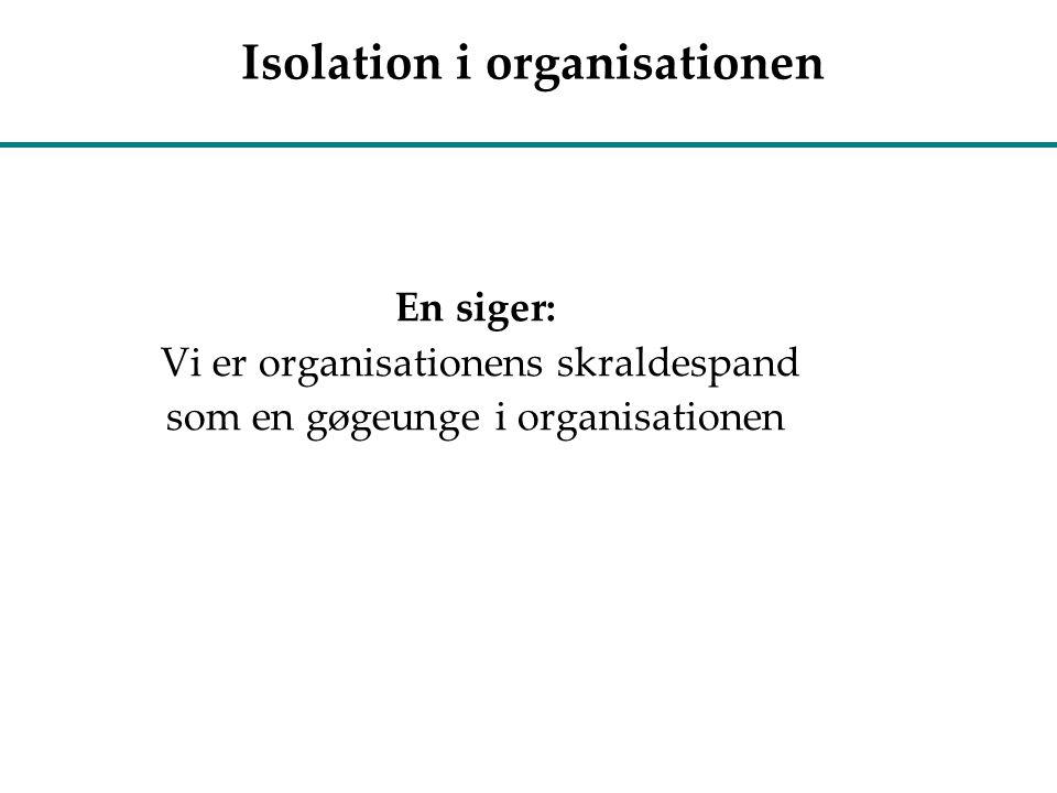 Isolation i organisationen