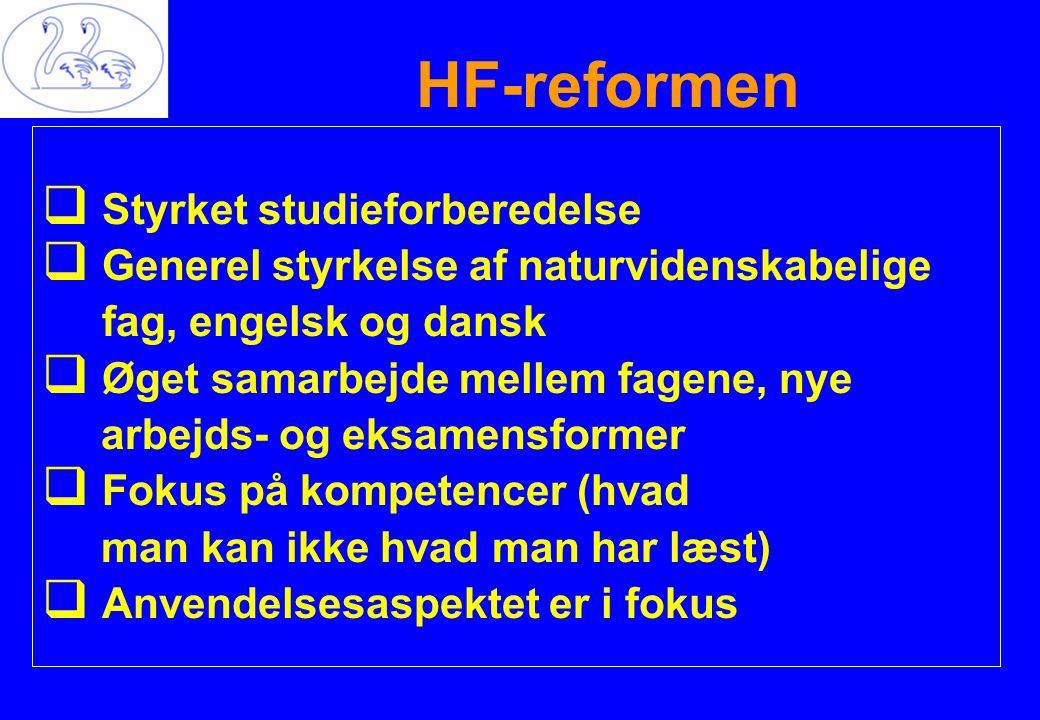 HF-reformen Styrket studieforberedelse