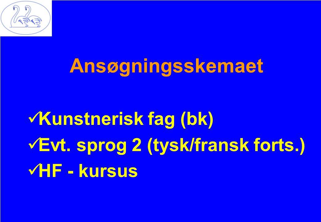 Ansøgningsskemaet Kunstnerisk fag (bk)