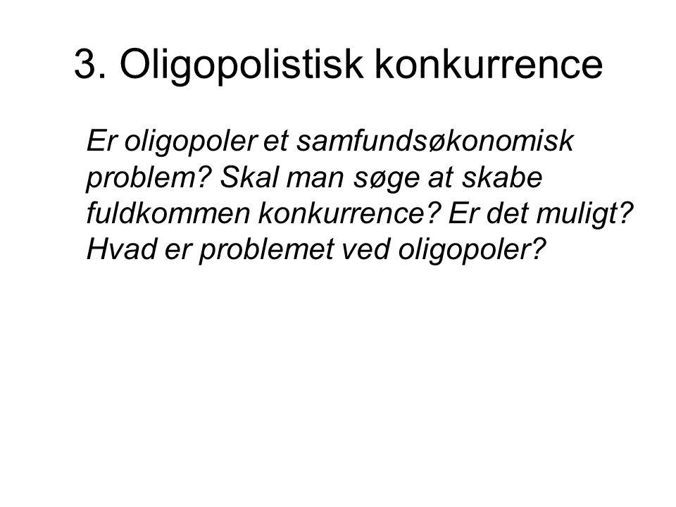 3. Oligopolistisk konkurrence