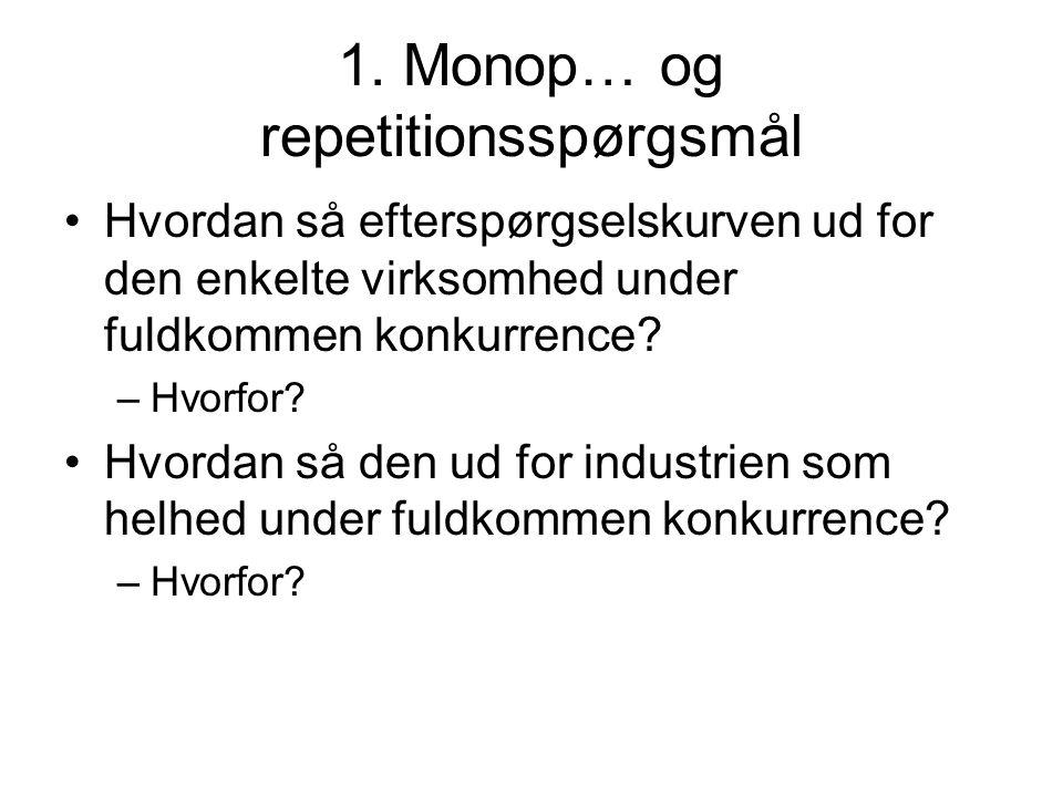 1. Monop… og repetitionsspørgsmål