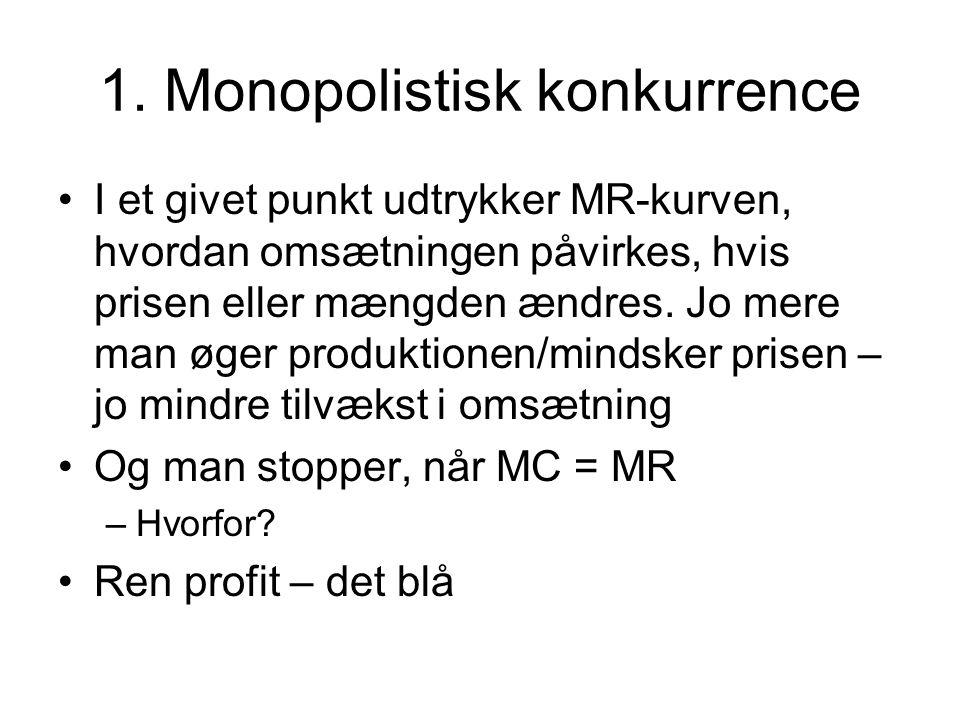 1. Monopolistisk konkurrence