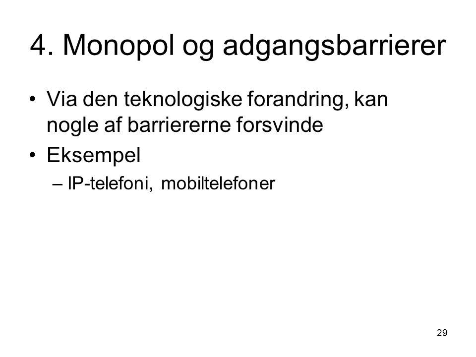 4. Monopol og adgangsbarrierer
