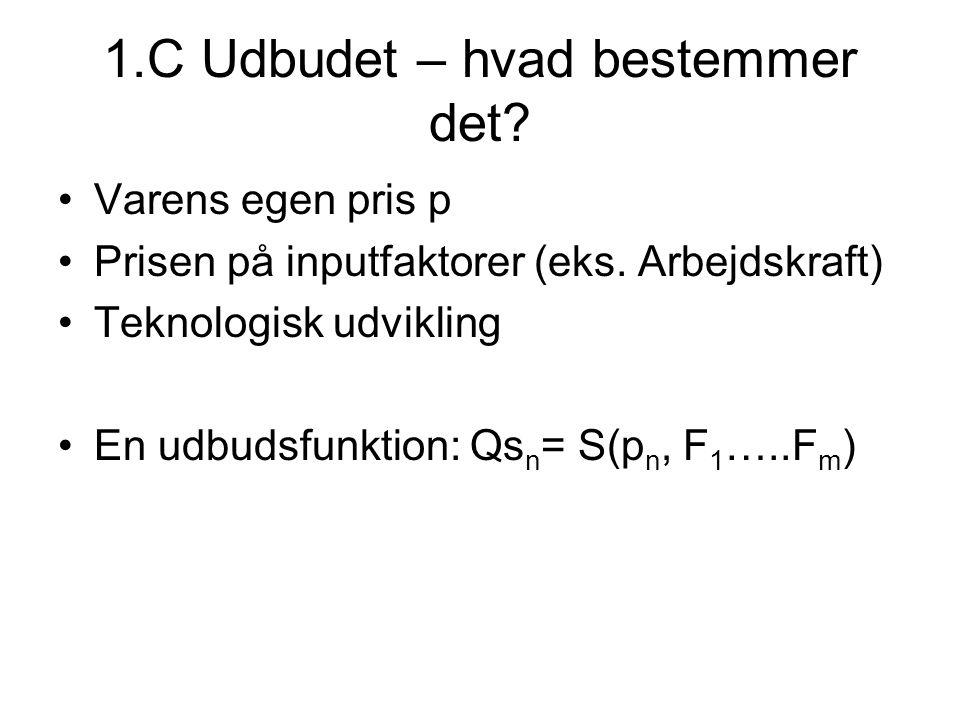1.C Udbudet – hvad bestemmer det