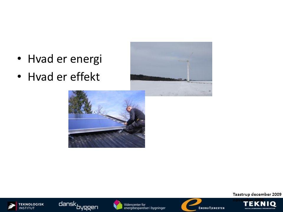 Hvad er energi Hvad er effekt