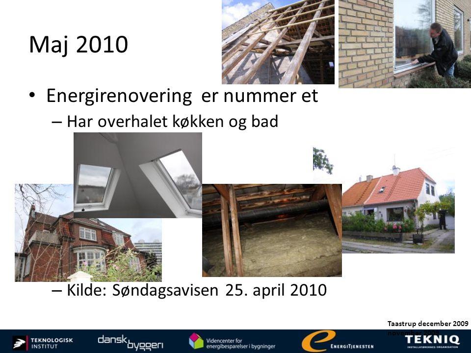 Maj 2010 Energirenovering er nummer et Har overhalet køkken og bad