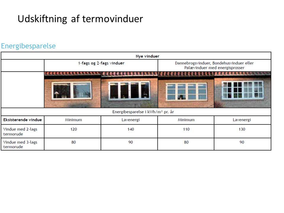 Udskiftning af termovinduer