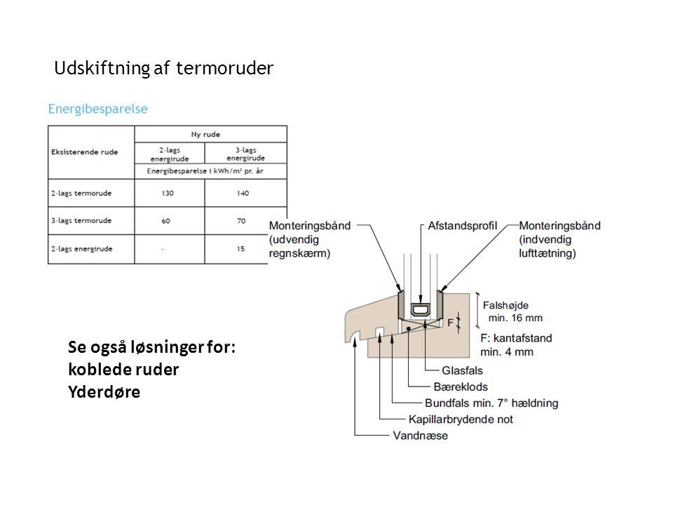 Udskiftning af termoruder