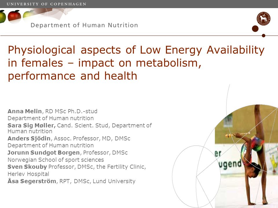 Physiological aspects of Low Energy Availability in females – impact on metabolism, performance and health