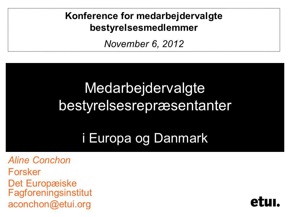 Medarbejdervalgte bestyrelsesrepræsentanter i Europa og Danmark