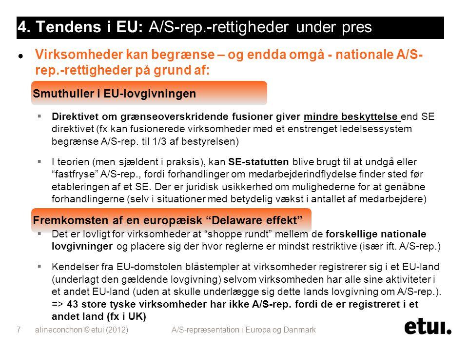 4. Tendens i EU: A/S-rep.-rettigheder under pres