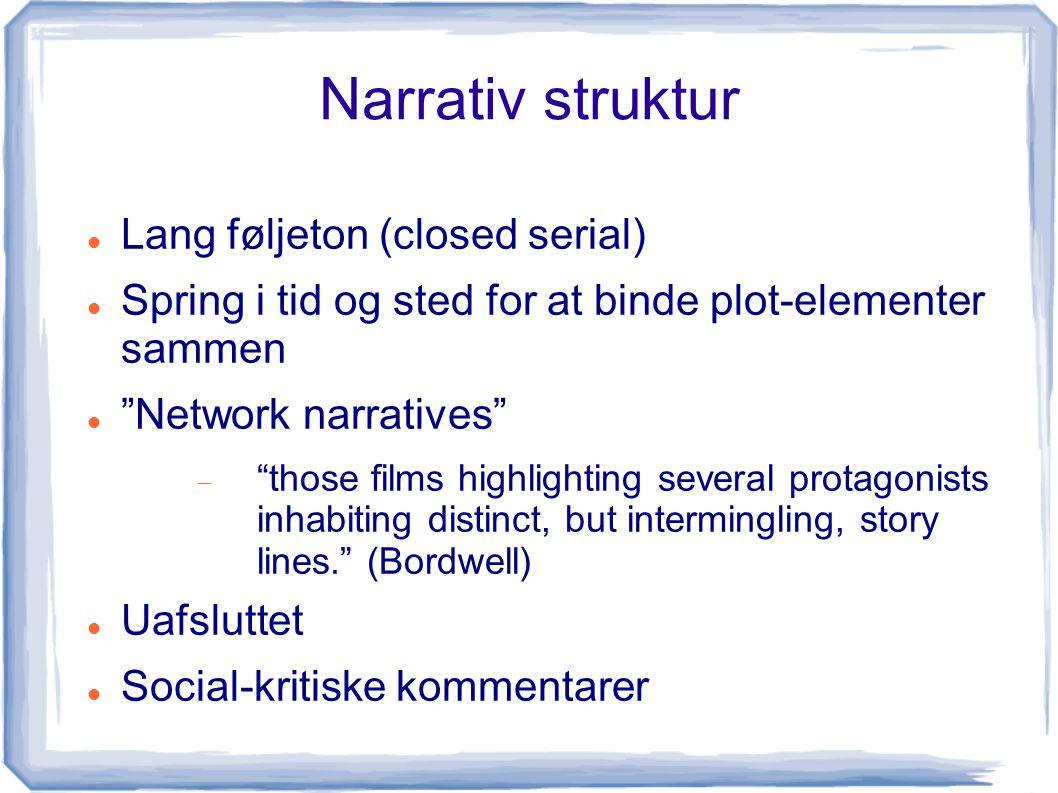Narrativ struktur Lang føljeton (closed serial)