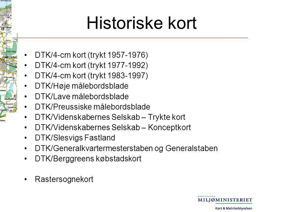 Historiske kort DTK/4-cm kort (trykt 1957-1976)