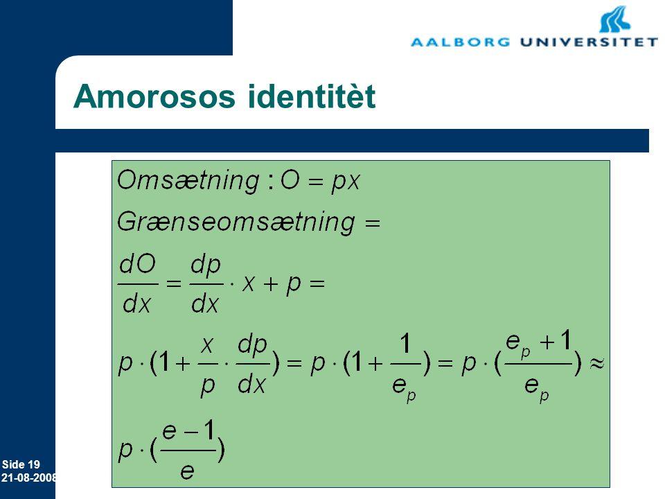 Erhvervsøkonomi 12-11-2006 Amorosos identitèt