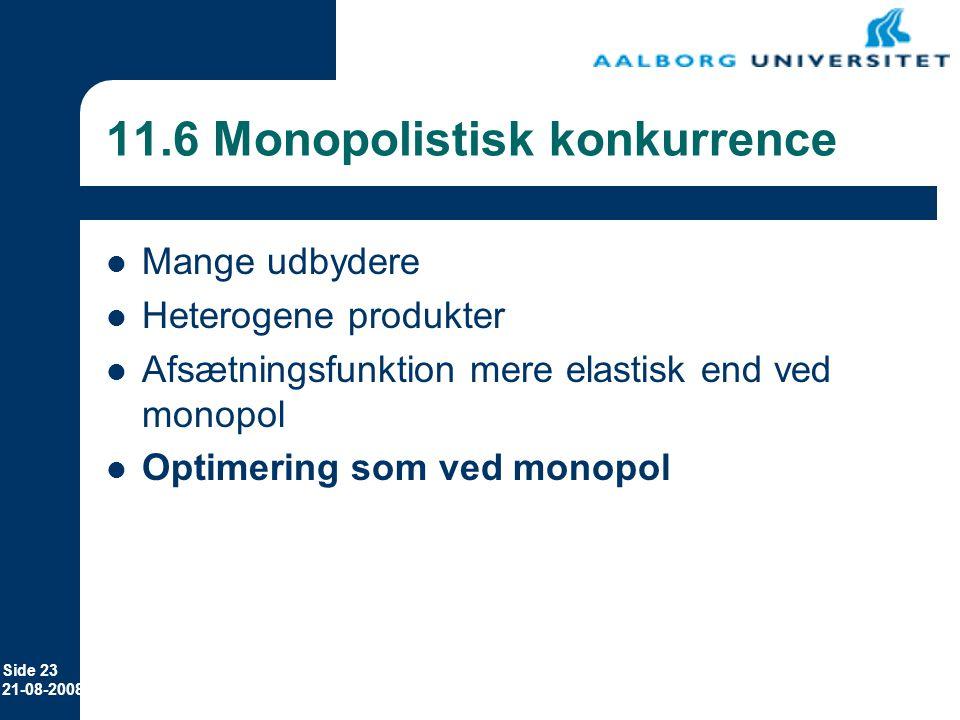 11.6 Monopolistisk konkurrence