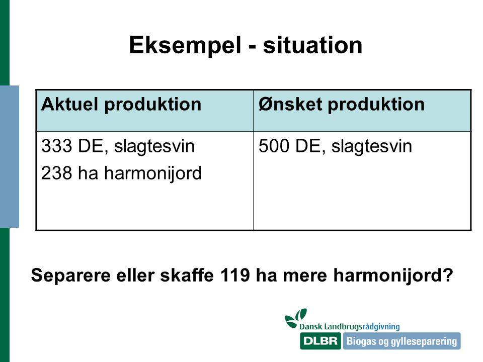 Separere eller skaffe 119 ha mere harmonijord