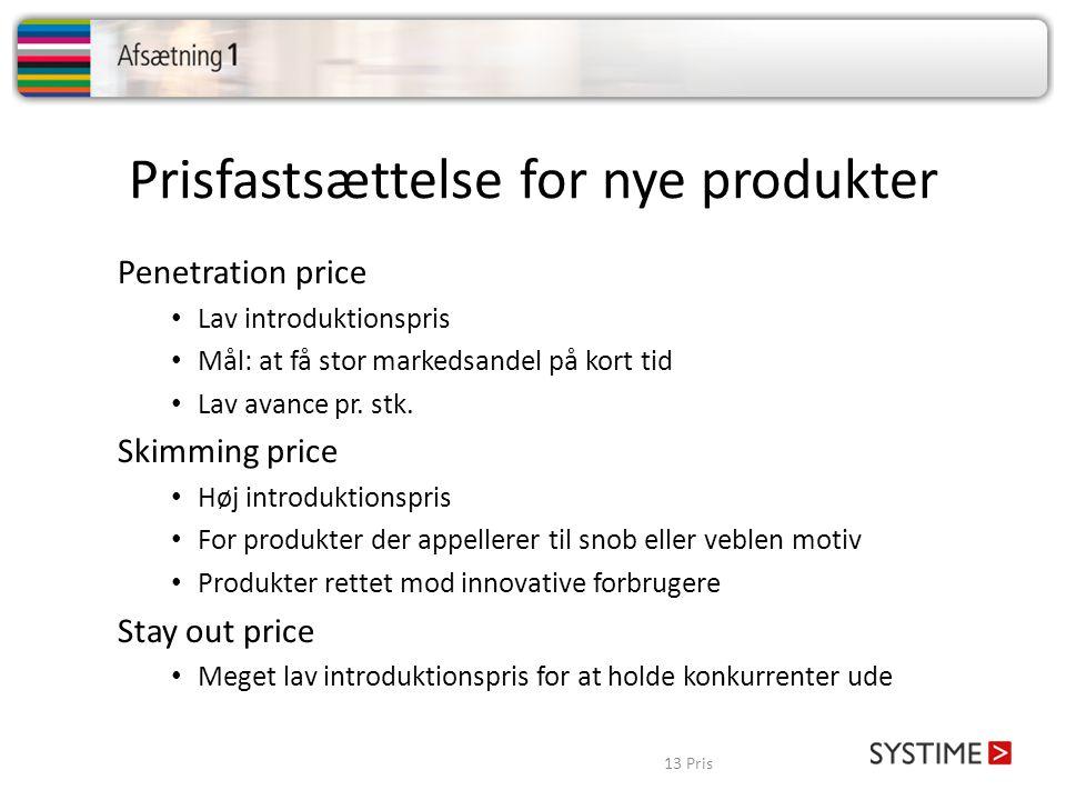 Prisfastsættelse for nye produkter
