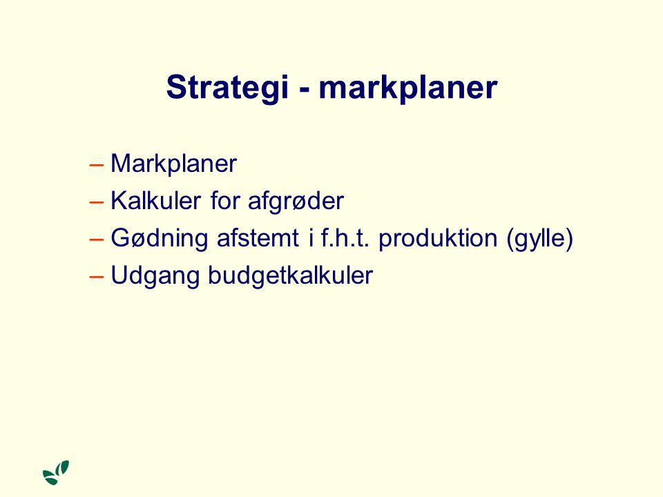 Strategi - markplaner Markplaner Kalkuler for afgrøder