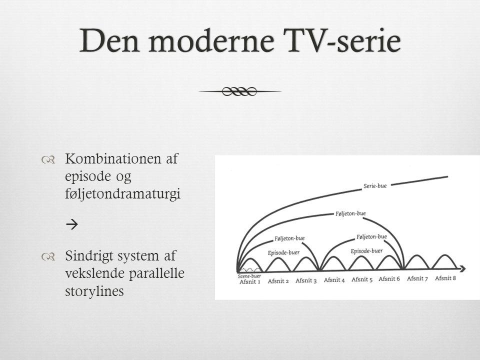 Den moderne TV-serie Kombinationen af episode og føljetondramaturgi 