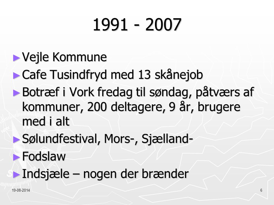 1991 - 2007 Vejle Kommune Cafe Tusindfryd med 13 skånejob