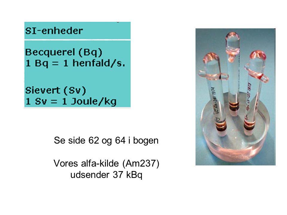 Se side 62 og 64 i bogen Vores alfa-kilde (Am237) udsender 37 kBq